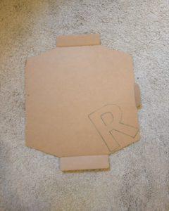 Step 1 Trace Shape Onto Cardboard